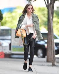 olivia palermo out with her dog in brooklyn celebs by lianxio