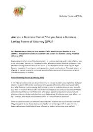 Power Of Attorney Bank Account by Are You A Business Owner Do You Have A Business Lasting Power Of Att U2026