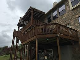 Pergola And Decking Designs by 3 Story Decks Austin Decks Pergolas Covered Patios Porches More