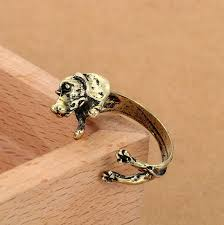 vintage dog ring holder images Cute handmade pug dog rings for women summer jewelry anillos mujer jpg