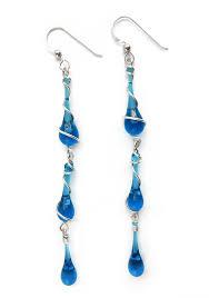 dramatic earrings dangle earrings of vibrant glass sterling silver