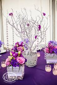 Manzanita Branches Centerpieces Purple Lavender U0026 Bling Tabletop Inspiration Jen U0027s Blossoms Blog