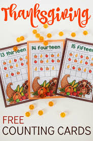 thanksgiving counting cards stay at home educator