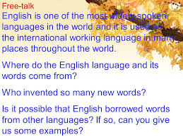 word power words borrowed from other languages ppt