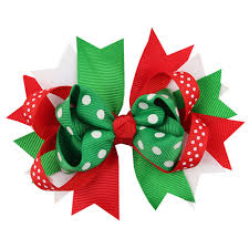 christmas accessories girl white christmas decorations christmas ornaments baby bowknot
