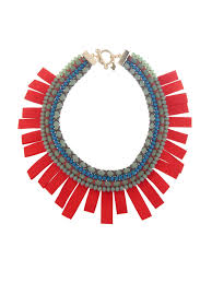 beaded necklace rope images Lyst weekend by maxmara ginevra rope and beads necklace in red jpeg
