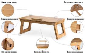 Standing Desk For Desktop Eco Friendly Bamboo Sitting To Standing Desk Converter With
