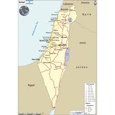 political map of israel map of israel physical version
