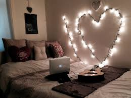 bedroom ideas awesome glamorous shaped string lights wall