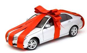 big bow for car present a car for a birthday gift great idea