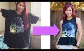 diy how to turn a large t shirt into a peplum top u2013 cosmic
