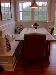 Dining Room With Bench Seating Corner Bench With Dining Table This Could Be Perfect As A Half