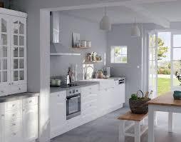 peinture blanche cuisine cuisine blanche carrelage gris lzzy co