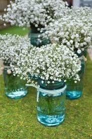 Baby S Breath Centerpiece Jam Jars Arreglos Florares Pinterest Centerpieces Wedding