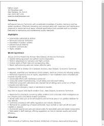 Sample Resume Maintenance by Professional Avionics Technician Templates To Showcase Your Talent