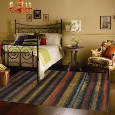 Mohawk Rainbow Rug Flooring Blue 9x12 Area Rugs With Beige Loveseat On Dark Pergo