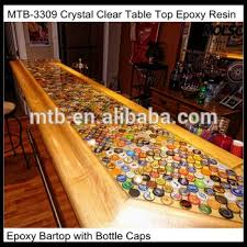 epoxy table top resin crystal clear table top epoxy resin with bottle caps buy crystal