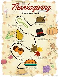 favorite thanksgiving food thanksgiving scavenger hunt free printable the shady lane