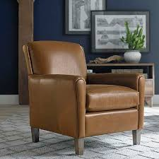 Brown Leather Accent Chair Chairs Astounding Leather Accent Chairs With Arms Leather Accent