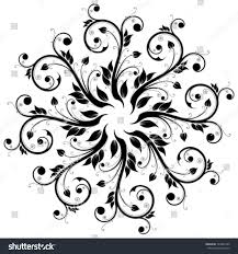 abstract design ornament element flowers stock vector 144652790
