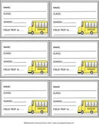 free printable field trip name tags the tags have fields for