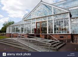 entrance with wheelchair r to the winter gardens glasshouse