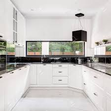 are black and white kitchens in style classic style black and white kitchen with marble floor tiles