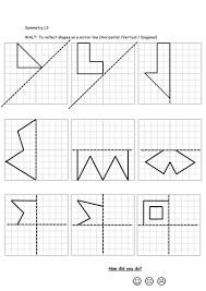 differentiated worksheets on reflective symmetry by georgia 77