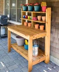 How To Build A Simple Bench Diy Potting Bench House Pinterest Bench Gardens And Woodworking