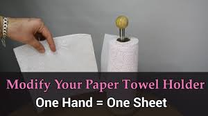 modify your paper towel holder to use it with one hand diy fyi