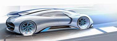 sports cars side view porsche electric le mans 2035 prototype side view design no car