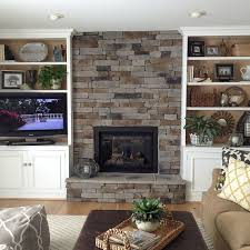 Stacked Stone Veneer Interior How To Create The Stacked Stone Fireplace Look On A Budget