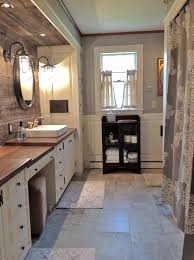 unusual materials used in this gorgeous farmhouse bathroom