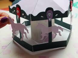 carousel pop up card carousel cards and kirigami