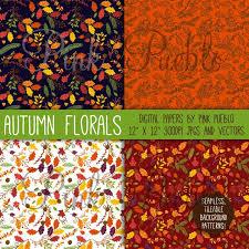 autumn or thanksgiving flowers digital scrapbook paper pinkpueblo