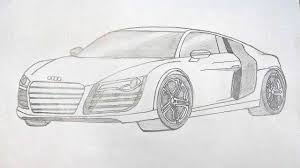 audi r8 car pencil sketch photo how to draw an audi stepstep