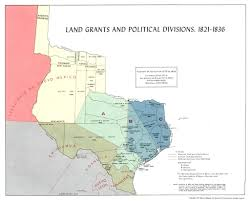 Old Mexico Map by Land Grants The Handbook Of Texas Online Texas State Historical