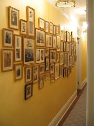 Hallway Paint Ideas by Interior Design Attractive Portray Frames Hanging On Yellow Wall