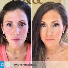 professional airbrush makeup system 20 before and after photos from using airbrush makeup