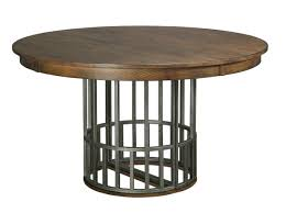 Kincaid Dining Room Furniture Elements Dining Table With Expanding Metal Pedestal Base And One