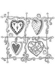 free printable hearts coloring lots free