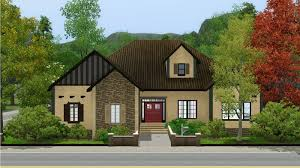 mod the sims one story home on corner lot