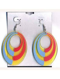 eighties earrings 80 s neon hoop earrings
