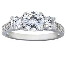 cubic zirconia engagement rings white gold 2 carat cubic zirconia three engagement ring in