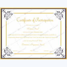 doc certificate of participation template word u2013 participation