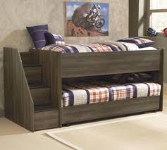 Twin Bed With Storage Twin Loft Bed W Left Storage Steps U0026 Twin Caster Bed By Signature