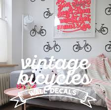 bicycle pattern wall decal packs cool urban temporary wallpaper