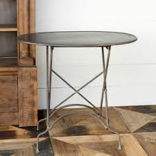 rustic metal coffee table oval rustic metal side table antique farmhouse