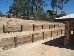 Best Timber Sleeper Retaining Wall Design  Timber Sleeper - Timber retaining wall design