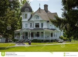 classic white victorian home stock photo image 41102027